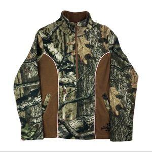 Camo Fleece Sweater Quarter Zip Up